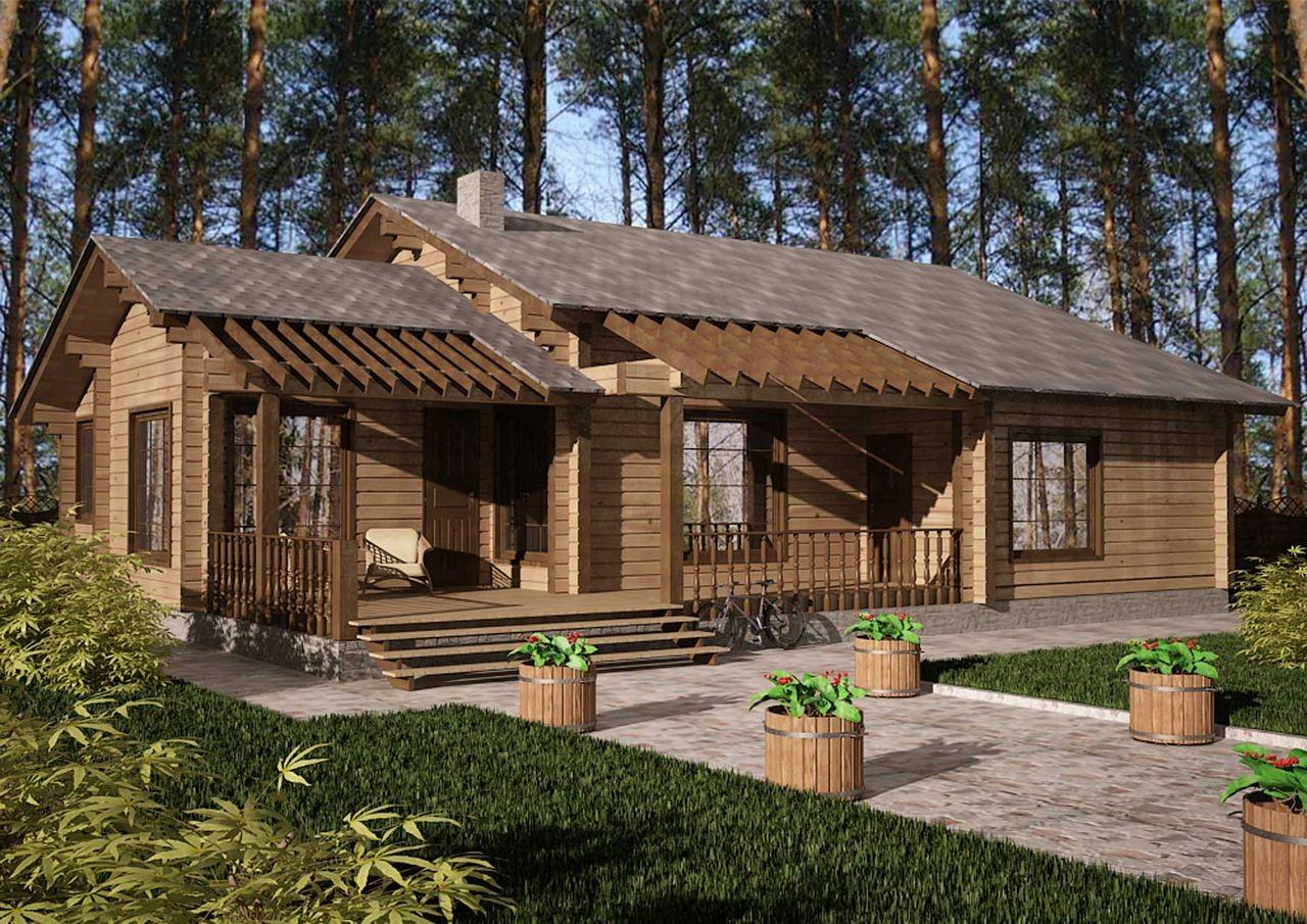 Одноэтажные деревянные дома фото